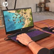 惠普(hp) 光影精灵5代 15-dk0126TX 15.6英寸微边框发烧游戏本笔记本电脑(i5-9300H 8GB内存 512GB SSD GTX1050 4G 60Hz)紫背光