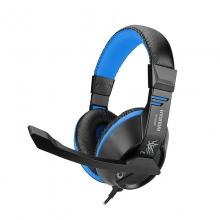 现代H6880头戴式立体声耳机仿真皮轻质头梁重低音大耳罩耳麦