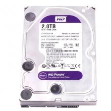 西部数据(WD)紫盘 2T SATA 64M 台式机企业级监控硬盘 机械硬盘2TB 台式机硬盘 WD20EJRX 三年换新          2000G硬盘