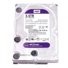 西部数据(WD)紫盘 3T SATA 64M  台式机企业级监控硬盘 WD30EJRX 机械硬盘3TB 三年换新零等待          3000G硬盘