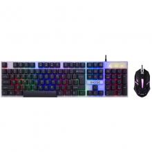 真机械手感键盘鼠标套装吃鸡键鼠台式有线薄膜网吧外设电脑笔记本办公套外接键盘 义宏7300有线游戏键鼠 黑色