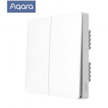 绿米Aqara 墙壁开关(ZigBee单火双键版)接入米家(MIJIA)苹果HomeKit双平台智能联动灯控家居开关86型开关面板