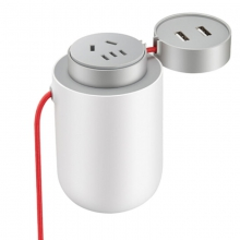 米家(MIJIA)小米 米家车载逆变器 双USB充电口 国际组合插孔 功率100W