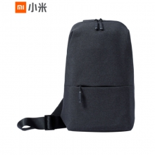 小米(MI)多功能都市休闲胸包 男单肩包斜跨包 可容纳7英寸平板电脑 深灰色