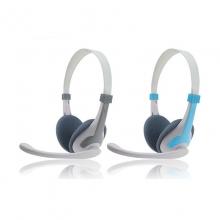 现代头戴式立体声耳机HY-H5300D带话筒有线耳麦头带式耳机家用办公电脑耳机