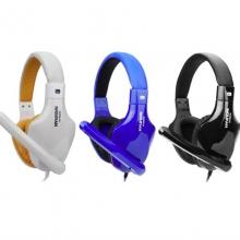 HYUNDAI现代M8350头戴式手机耳机 单插头 炫彩烤漆 带话筒 电脑耳麦