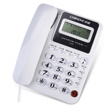 中诺C228老人用电话机座机办公家用座式单机免电池大按键来电显示 白色