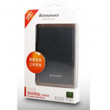 联想1T移动硬盘(Lenovo)1TB USB3.0 移动硬盘 F309 2.5英寸 黑色 便携小巧 即插即用 稳定传输