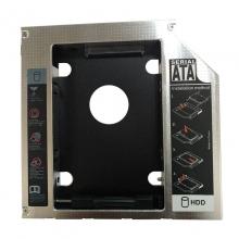笔记本光驱位硬盘普通厚度托架 铝(12.7MM) 通用所有接口厚度一样笔记本          光驱支架