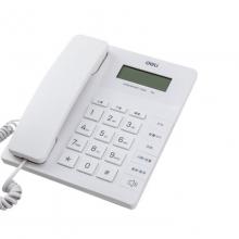 得力779白色有线电话机免电池固定电话家用办公来电显示座机大按键 白色