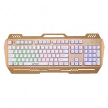 貂王DK527 悬浮七彩背光机械手感键盘有线台式机笔记本电脑键盘