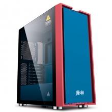 金河田魔术师 蓝精灵 台式机电脑游戏水冷主机箱玻璃全侧透ATX背线机箱
