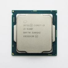 英特尔处理器i3 9100F 台式机电脑CPU散片 9代  四核