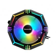 航嘉CPU 散热器 航嘉毒刺 下压式散热 内外炫彩双光圈