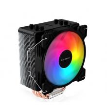 航嘉CPU散热器 航嘉冷静王冰封400R炫动版 4铜管散热 12CM大风扇 RGB炫彩