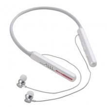 电音W1蓝牙耳机运动耳机颈挂式磁吸入耳无线跑步耳降噪适用于苹果华为oppo小米立体声音耳塞 简约白