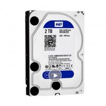 【100%正品】西数2T 蓝盘西部数据(WD)蓝盘 2TB 3.5英寸台式机械电脑硬盘 普通低速 SATA3 正品行货 质保二年 西数硬盘