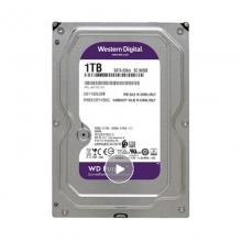 【100%正品】西数1T 紫盘西部数据(WD) 紫盘 1TB SATA6Gb 监控 录相机台式机械硬盘 DVR WD10EJRX 3.5英寸 正品行货  质保三年 西数硬盘